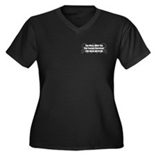 Mess With Flatcoat Women's Plus Size V-Neck Dark T