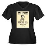 The Apache Kid Women's Plus Size V-Neck Dark T-Shi