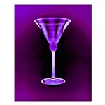 Purple Extreme Satin Martini Glass Poster