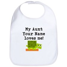 My Aunt Loves Me Turtle (Custom) Bib