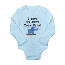 I Love My Aunt Elephant (Custom) Body Suit