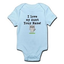 I Love My Aunt Raccoon (Custom) Body Suit