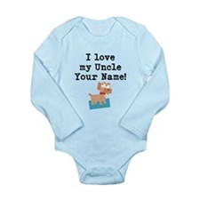 I Love My Uncle Dog (Custom) Body Suit