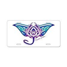Cute Snorkeling Aluminum License Plate
