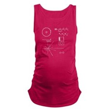 NASA Voyager Golden Record Maternity Tank Top