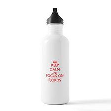 Cute Fjord horse Water Bottle