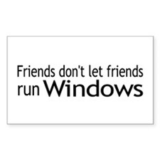Friends Windows Rectangle Decal