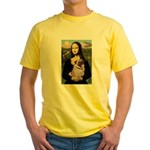 Mona's Fawn Pug (#2) Yellow T-Shirt