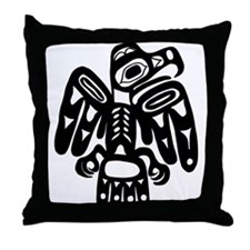 Tribal Eagle Throw Pillow