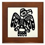 Tribal Eagle Framed Tile