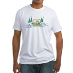 Animals in a Canoe Fitted T-Shirt