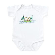 Animals in a Canoe Infant Bodysuit