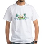 Animals in a Canoe White T-Shirt