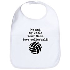 Me And My Uncle Love Volleyball Bib
