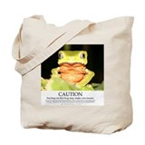 Hallucinogenic frog shopping bag