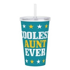 Funny Worlds greatest aunt Acrylic Double-wall Tumbler