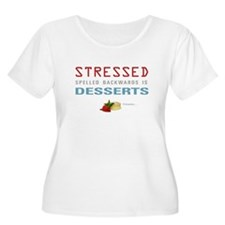 Cute Stressed spelled backwards T-Shirt