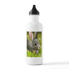 Unique Bunny art Water Bottle