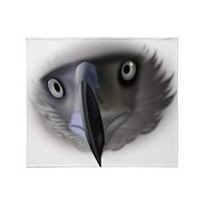 Eagle Face Throw Blanket