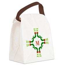 Personalizable Christmas Elf Feet Initial Canvas L