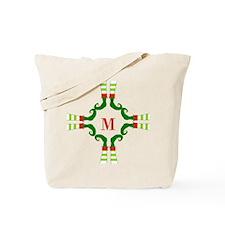 Personalizable Christmas Elf Feet Initial Tote Bag