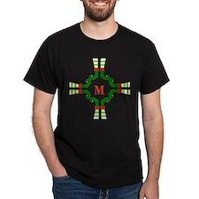 Personalizable Christmas Elf Feet Initial T-Shirt