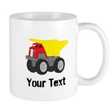 Personalizable Red Yellow Dump Truck Mugs
