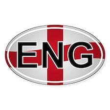Eng - England Oval Car Sticker Flag Design