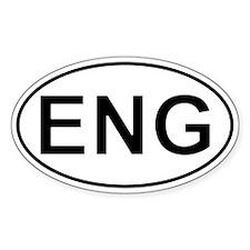 Eng - England Oval Car Decal