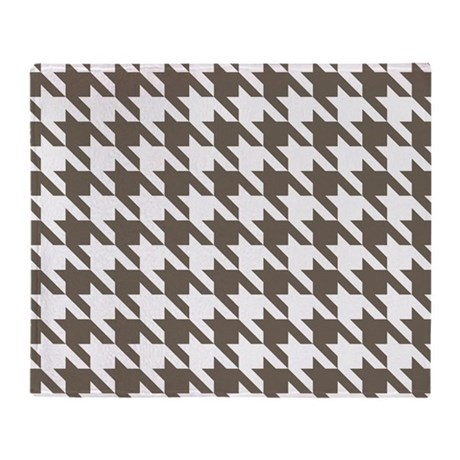 Houndstooth Brown Throw Blanket