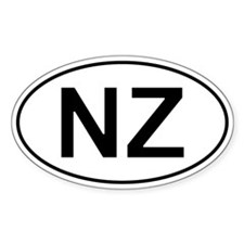 Nz - New Zealand Oval Decal