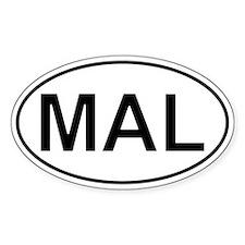 Mal - Malaysia Oval Decal