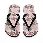 Houndstooth pink Flip Flops