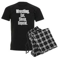 Wrestling Eat Sleep Repeat Pajamas