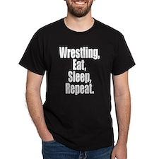 Wrestling Eat Sleep Repeat T-Shirt