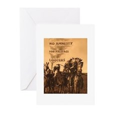 No Amnesty...for Paleface Loo Greeting Cards (Pack