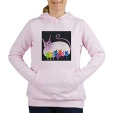Easter Island Cats Women's Hooded Sweatshirt