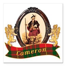 "Cameron Clan Square Car Magnet 3"" x 3"""