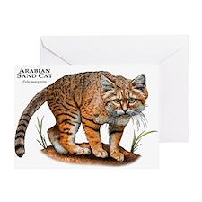 Arabian Sand Cat Greeting Card