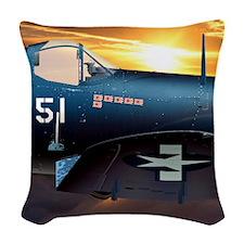 Black Sheep Squadron VMA-214 Woven Throw Pillow