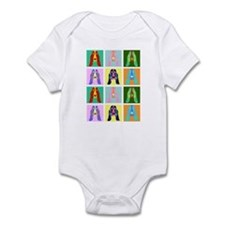 Basset Hound Pop Art Infant Bodysuit