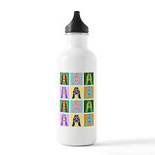 Basset Hound Pop Art Water Bottle