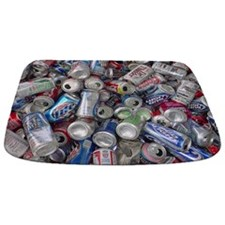 Empty Beer and Soda Cans Bathmat