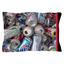 Empty Beer and Soda Cans Pillow Case