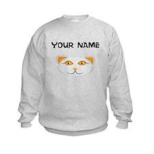 Custom White Cat Face Sweatshirt