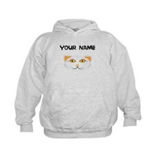 Custom White Cat Face Hoodie