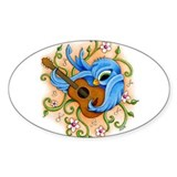 Song Bird Guitar Oval Decal