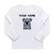 Custom Koala Bear Long Sleeve T-Shirt
