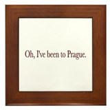 I've Been to Prague Framed Tile