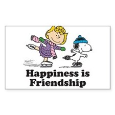 Happiness is Friendship Sticker (Rectangle)
